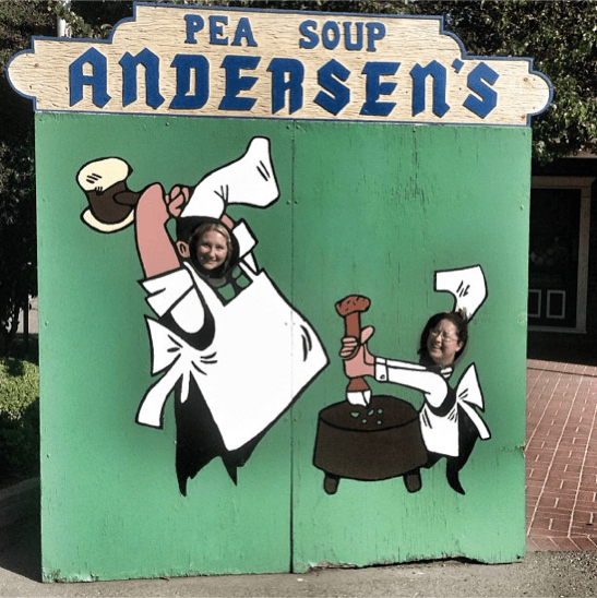 Kitschy Pea Soup Andersen's in Santa Nella, Calif. Photo from Simply Junebug's Instagram.