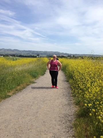 Strolling through Schollenberger Park in Petaluma