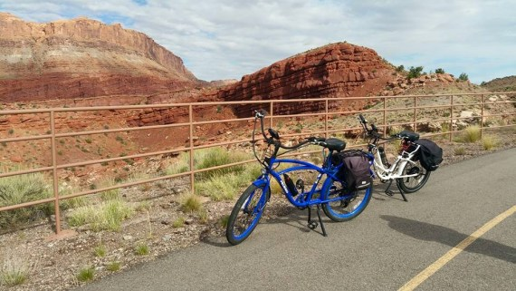 Amazing photo by Mary and Patrick of the Pedegos at Arches National Park