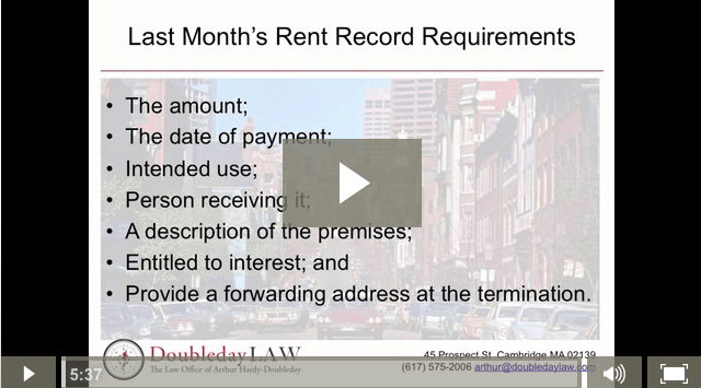 What every tenant should know about Last Month's rent in Massachusetts