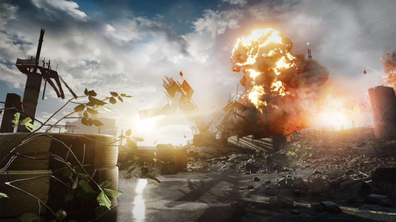 A Battlefield 4 bullshot of Levolution in action.