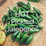 Hot Pickled Jalapenos - Double Knotted Apron