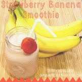 Strawberry Banana Smoothie - Double Knotted Apron