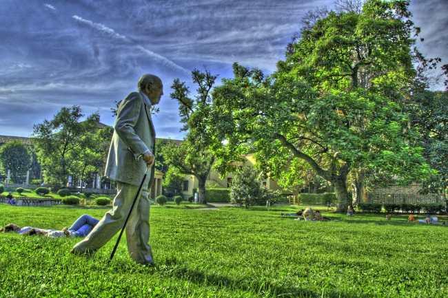 Ritratto di Borges ispirato a Il giardino dei sentieri che si biforcano