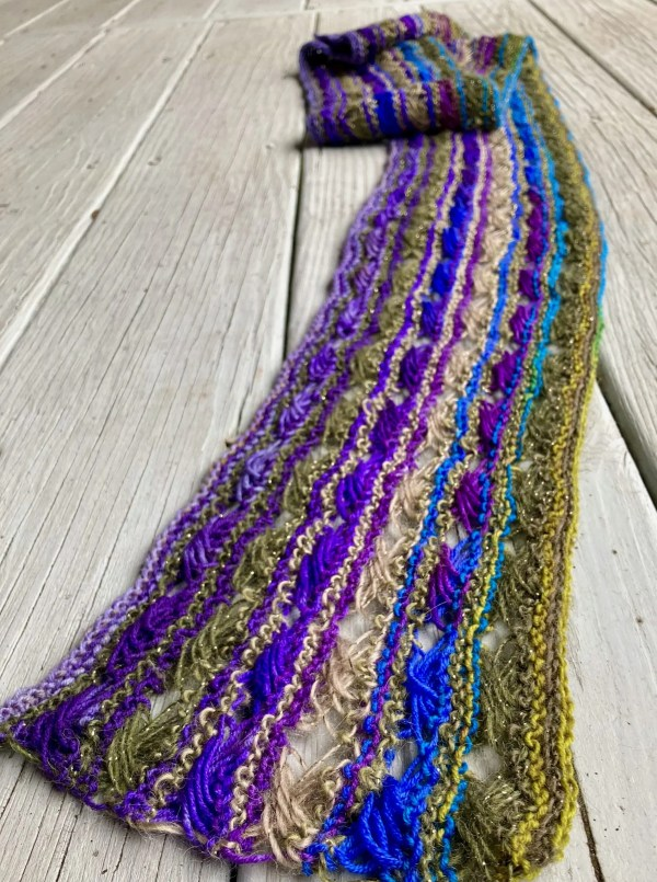 Knitted Cross Stitch Scarf CSS0350 01