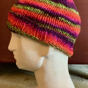 Colorful Hat - Purple Orange Green and Pink Large 01