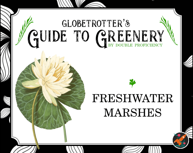 A cover of Globetrotter's Guide to Greenery: Freshwater Marshes
