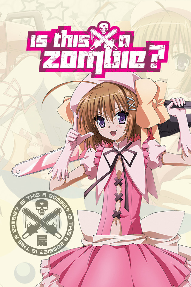 Is This a Zombie? anime cover art featuring the Magical Garment Girl Haruna