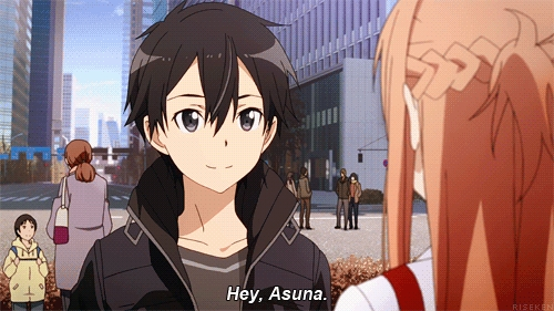 Kirito and Asuna from the anime Sword Art Online