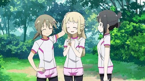 Gin, Nogi, and Sumi from the anime Yuki Yuna is a Hero: The Washio Sumi Chapter