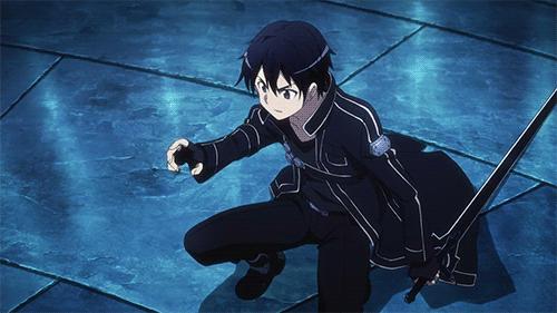 Kirito from the anime Sword Art Online