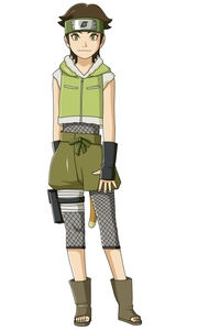 Wasabi Izuno from the anime Boruto: Naruto Next Generations