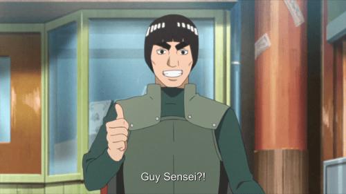 Might Guy Sensei from the anime Boruto: Naruto Next Generations