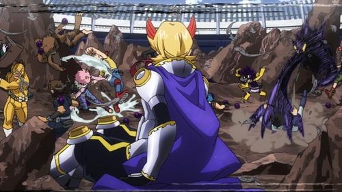 Yuuga Aoyama watching his classmates fight from the anime My Hero Academia season 3