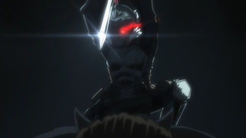 Goblin Slayer killing an ogre from the anime Goblin Slayer