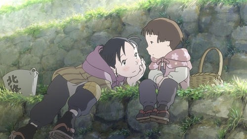 Suzu Urano and Harumi Kuromura from the anime movie In This Corner of the World