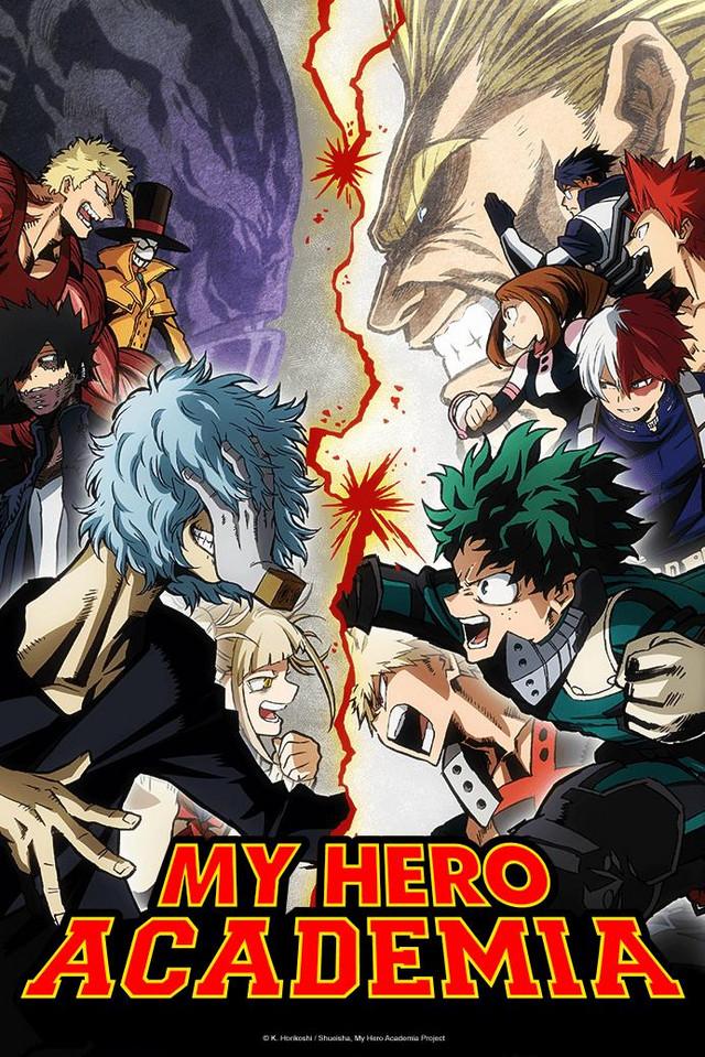 My Hero Academia season 3 anime cover art