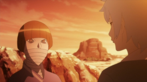 Sekiei and Mitsuki from the anime Boruto: Naruto Next Generations