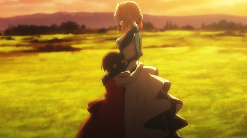 Violet Evergarden and Ann Magnolia from the anime series Violet Evergarden