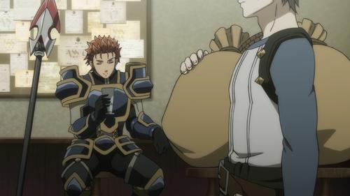 Goblin Slayer and Spearman from the anime Goblin Slayer