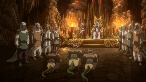 The Lizardmen royal court from the anime That Time I Got Reincarnated as a Slime