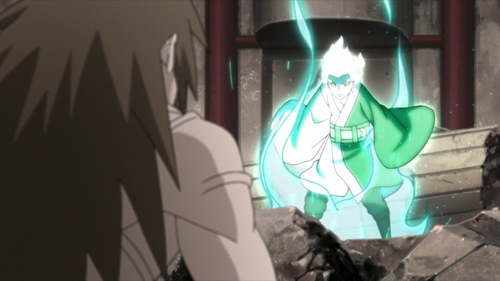 Mitsuki vs. Ku from the anime series Boruto: Naruto Next Generations