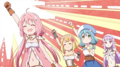 Yuusha, Fai, Mei, and Seira from the anime series Endro~!