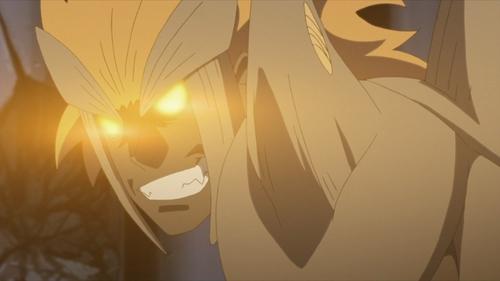 Jūgo's curse mark transformation from the anime series Boruto: Naruto Next Generations