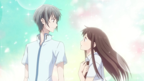 Yuki Souma and Tooru Honda from the anime series Fruits Basket