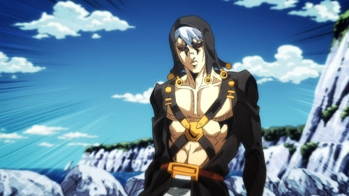 Risotto Nero from the anime series JoJo's Bizarre Adventure Part 5: Golden Wind