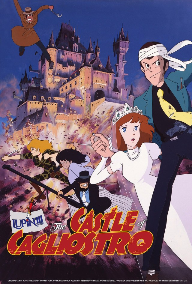 Lupin III: The Castle of Cagliostro anime movie cover art