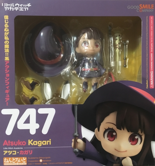 Akko Kagari Nendoroid front packaging (from the anime series Little Witch Academia)