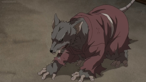 The ghoul rat from the anime series Dororo