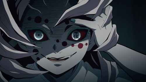 Spider Silk Demon of the Twelve Demon Moons from the anime series Demon Slayer: Kimetsu no Yaiba