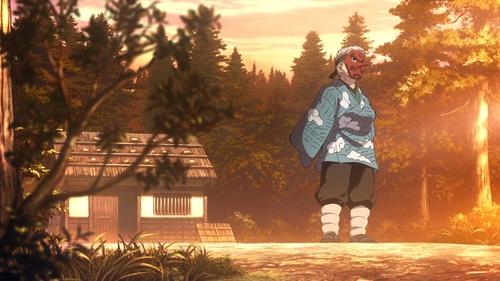Former Water Hashira Sakonji Urokodaki from the anime series Demon Slayer: Kimetsu no Yaiba