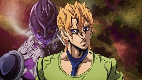 Pannacotta Fugo and Purple Haze from the anime series JoJo's Bizarre Adventure Part 5: Golden Wind