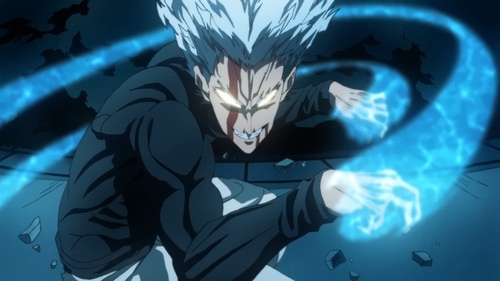 Garou from the anime series One Punch Man 2nd Season