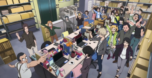 Musashino Animation employees from the anime series Shirobako