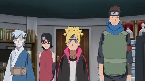 Team 7 from the anime series Boruto: Naruto Next Generations