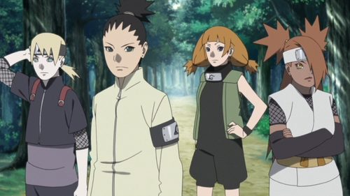 Team 10 from the anime series Boruto Naruto Next Generations