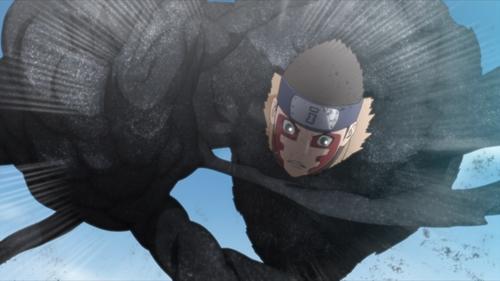 Shinki using his Black Iron Fist jutsu from the anime series Boruto: Naruto Next Generations