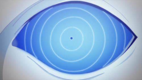 Urashiki activating his Rinnegan from the anime series Boruto: Naruto Next Generations