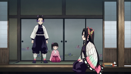 Kanae, Shinobu, and Kanao from the anime series Demon Slayer: Kimetsu no Yaiba