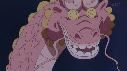 Momonosuke in his dragon form from the anime series One Piece (Punk Hazard)