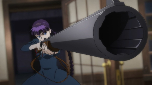 Schaal Bancroft holding a rifle from the anime series To the Abandoned Sacred Beasts