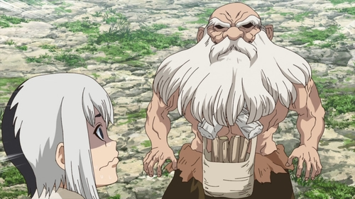 Gen and Kaseki from the anime series Dr. Stone