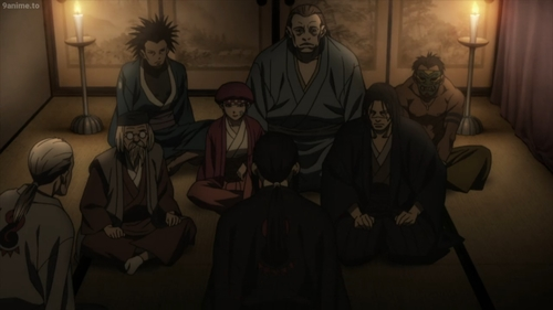 The remaining members of the Itto-Ryu from the anime series Blade of the Immortal