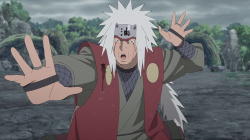 The White-Maned Toad Charmer, Jiraiya from the anime series Boruto: Naruto Next Generations