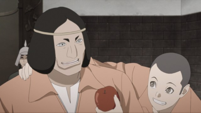 Kedama and Kiku from the anime series Boruto: Naruto Next Generations