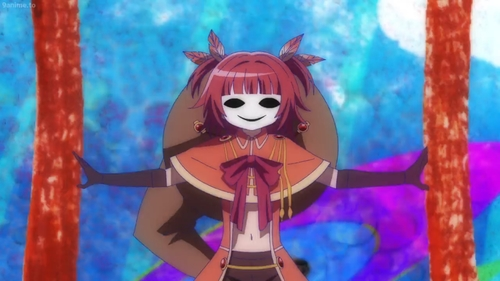 Kaede Akino's pseudo witch form from the anime series Madoka Magica: Magia Record